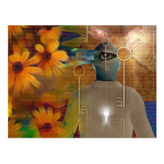 Multi image abstract postcard