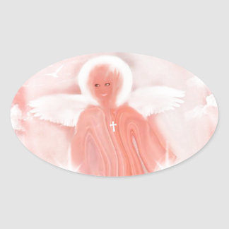 Multi Item Michele Angel, business, home, electron Oval Sticker