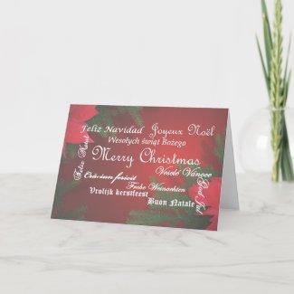 Multi language Merry Christmas Card