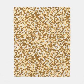 Multi Layer Abstract Pattern Fleece Blanket Coffee