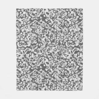 Multi Layer Abstract Pattern Fleece Blanket Grey