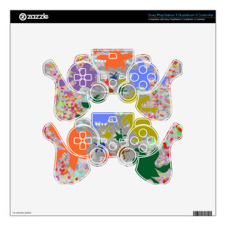 Multi-Layered Collage - Soaring High Tiny Birds Decal For PS3 Controller