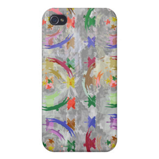 Multi-Layered Collage - Soaring High Tiny Birds iPhone 4 Cases