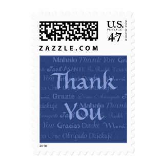 Multi-Lingual Thank You Postage Stamp