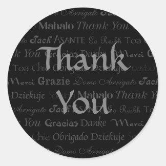 Multi-Lingual Thank You Sticker