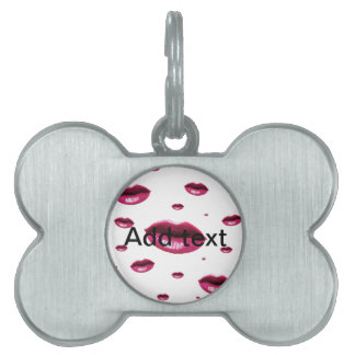 Multi Lips Pet Tag