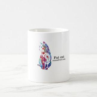multi - mercancía coloreada del gato taza básica blanca