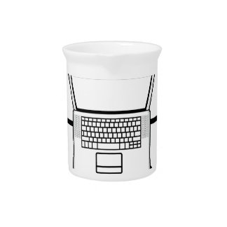 Multi-mind computer. Business Network. E-learning Beverage Pitcher