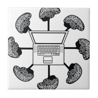 Multi-mind computer. Business Network. E-learning Tile
