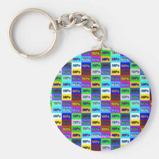 multi mini mips logo key chain