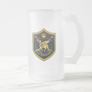 Multi-National Force – Iraq Frosted Glass Beer Mug