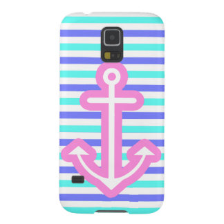 Multi Nautical Pink Anchor Case For Galaxy S5