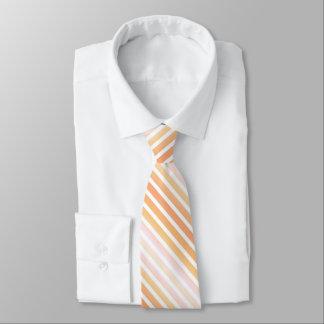 Multi-orange striped tie