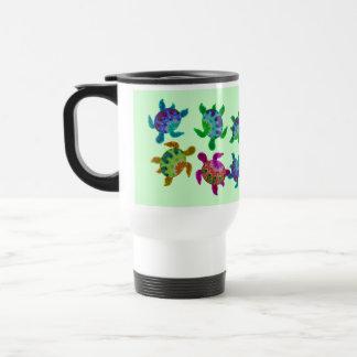 Multi Painted Turtles Travel Mugs