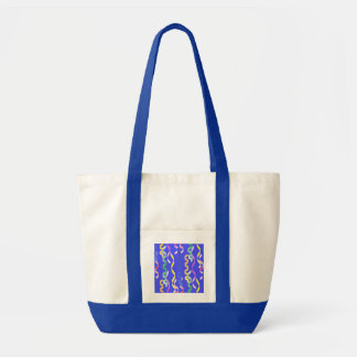 Multi Party Streamers on Neon Blue Impulse Tote Bag