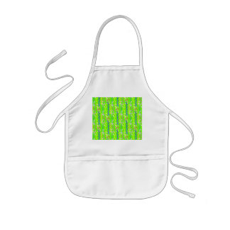 Multi Party Streamers on Neon Green Kids' Apron
