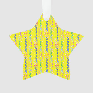 Multi Party Streamers on Neon Yellow