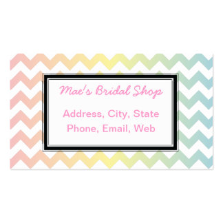 Multi Pastel Chevron Pattern Business Card Template