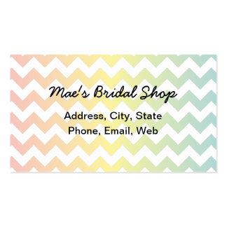 Multi Pastel Chevron Pattern Business Card Templates