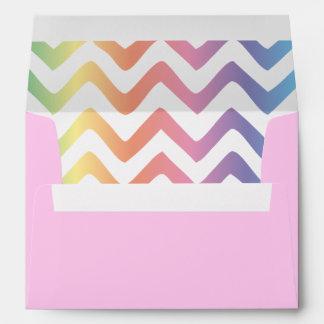 Multi Pastel Chevron Pattern Envelopes