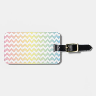 Multi Pastel Chevron Pattern Bag Tag