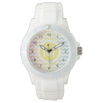 Multi Pastel Chevron Pattern Watch