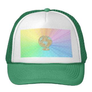 Multi pastel polka dot pattern trendy chic girly trucker hats