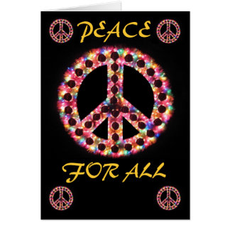 multi peace for all greeting card