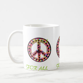 multi peace for all mug