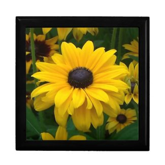 Multi-Petal Yellow Flower Trinket Box