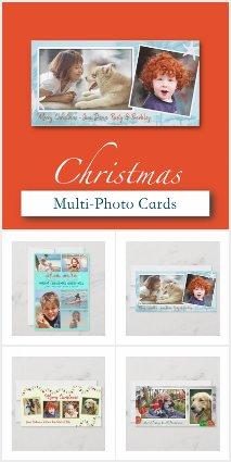 Multi-photo Christmas Cards