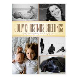 Multi-Photo Christmas Postcard Greeting