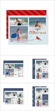 MULTI photo HOLIDAY cards