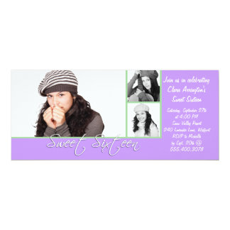 Multi-photo template Sweet 16 Birthday Invitation