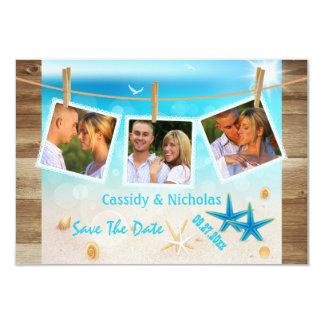 Multi-photo Tropical Beach Save The Date Card