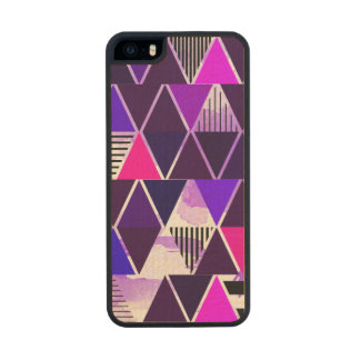Multi Purple Triangular Carved® Maple iPhone 5 Case