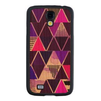 Multi Purple Triangular Carved® Cherry Galaxy S4 Case