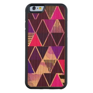 Multi Purple Triangular Carved® Cherry iPhone 6 Bumper