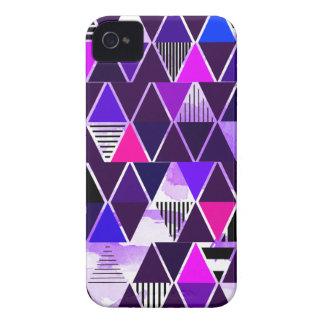 Multi Purple Triangular iPhone 4 Cover