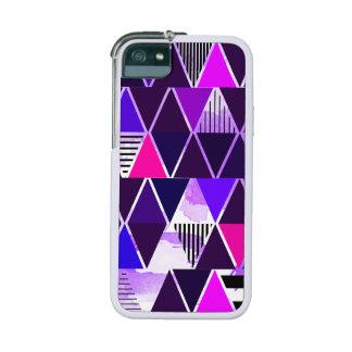 Multi Purple Triangular Case For iPhone 5