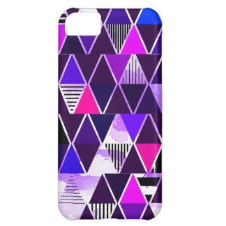 Multi Purple Triangular Case For iPhone 5C