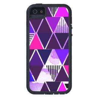 Multi Purple Triangular iPhone 5 Cases
