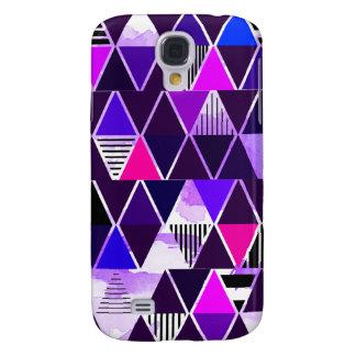 Multi Purple Triangular Galaxy S4 Cases