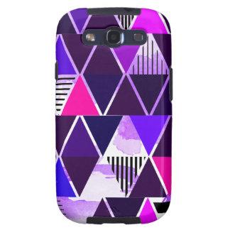 Multi Purple Triangular Galaxy S3 Covers