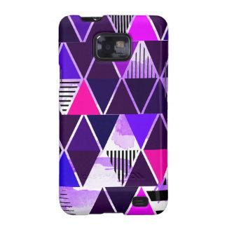 Multi Purple Triangular Samsung Galaxy S2 Cases