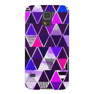 Multi Purple Triangular Galaxy S5 Case