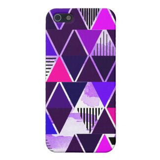 Multi Purple Triangular Cover For iPhone 5