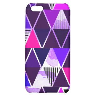 Multi Purple Triangular Cover For iPhone 5C