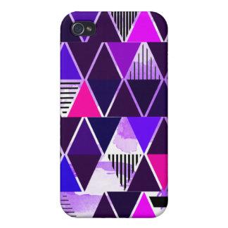 Multi Purple Triangular iPhone 4 Cases