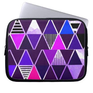 Multi Purple Triangular Computer Sleeves